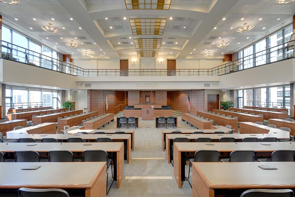 Loyola School Of Law Courtroom Chicago IL Commercial Residential Architecture Firm In